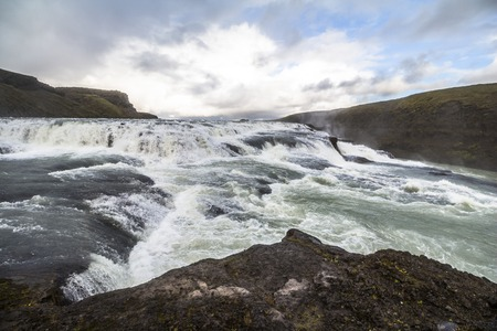 Gullfoss waterfall in Iceland, golden circle route