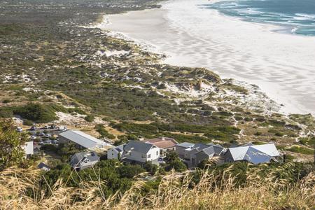 Chapmans peak drive nice view on a beach below