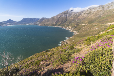 View on high coast of chapmans peak drive in Cape Town