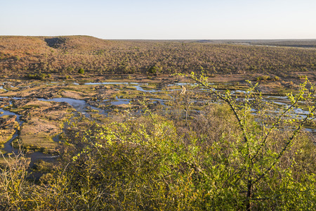 Wide view on Olifants river from Camp viewpoint