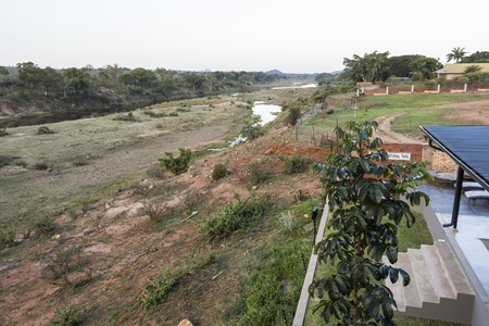 Crocodile river view in South Africa Stock Photo
