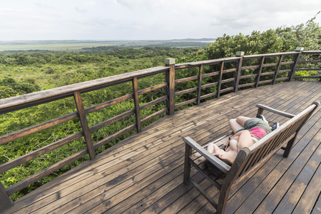 ST. Lucia wetlands park view on jungle, South Africa
