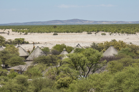 Viewpoint from Etosha Camp over landscape Stock Photo