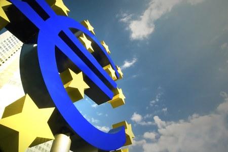 frankfurt: The Euro sign in Frankfurt
