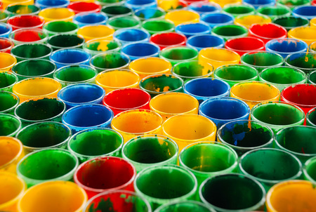 color mixing: color mixing glass Stock Photo
