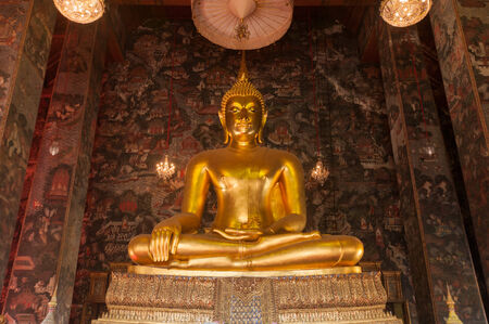 Buddha image in Sutat temple Stock Photo - 28921711