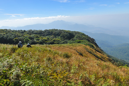 mountainous: mountainous scenic view in the national park in northern Thailand