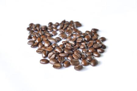 robusta: coffee bean on a white screen Stock Photo