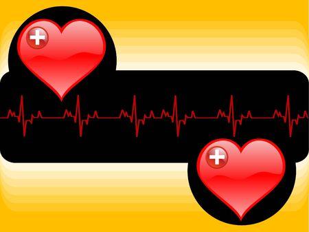 lifeline: heart and lifeline on abstract background