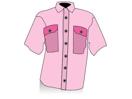 readymade: half shirt on isolated background