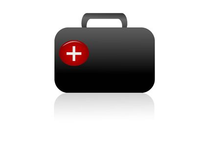 firstaid: firstaid box on isolated background