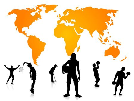 different players on world map Stock Photo - 3300154