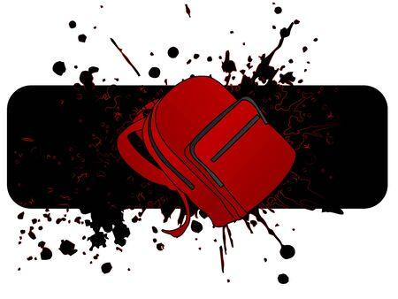 school bag: scuola sacco su sfondo grungy