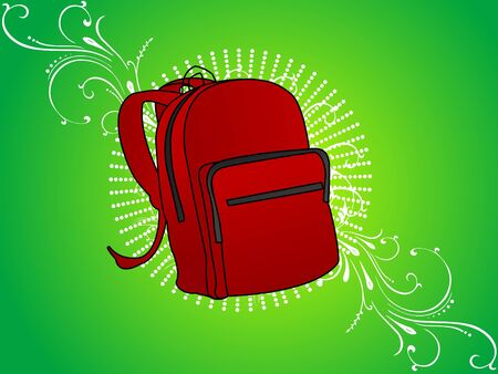 college bag on floral background Stock Photo - 3300290
