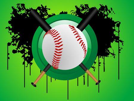 baseball on circular background Stock Photo - 3300296
