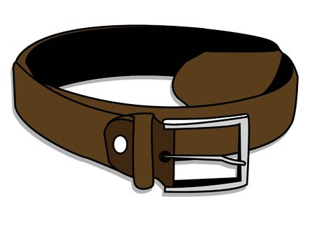leather belt on isolated background