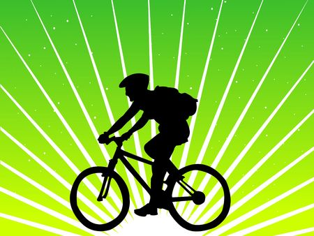 cyclist riding on bicycle   photo