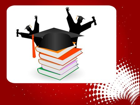 master page: graduate people on abstract background   Stock Photo