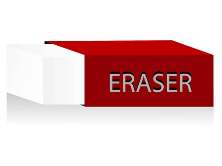 cuboid: eraser in cover on isolated background