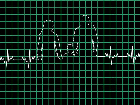 healthy family in lifeline on graph
