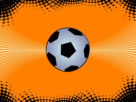 soccer ball on abstract background   photo