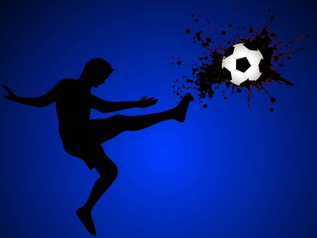soccer player on gradient background   photo