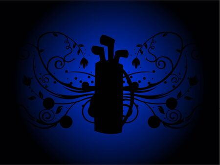 golf bag on floral background Stock Photo - 3300137