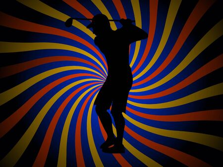 golf player on swirly background