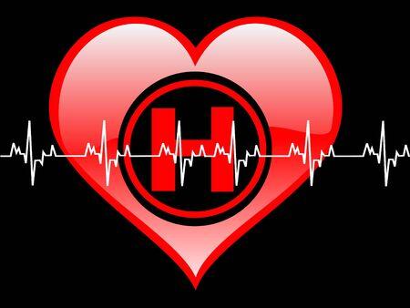 healty: healty heart on dark background   Stock Photo