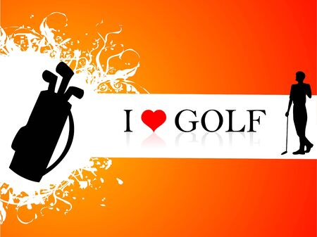 golf player and kit with  text     photo