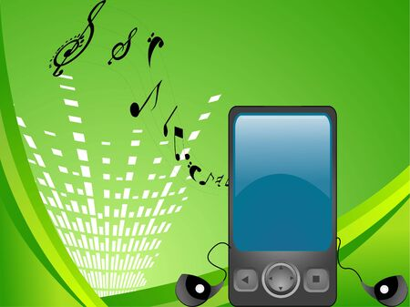 multimedia mobile with musical notes   photo