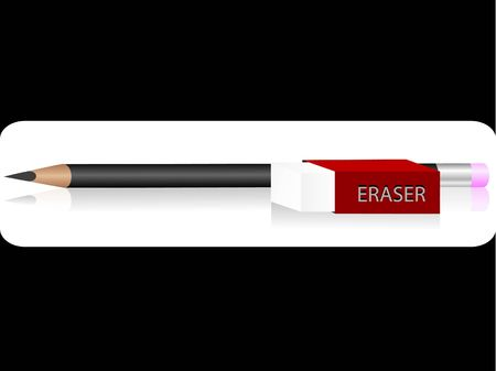 absract: pencil and eraser on absract background