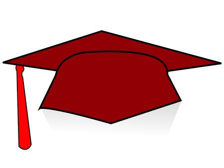 academic achievement: single degree on isolated background     Stock Photo