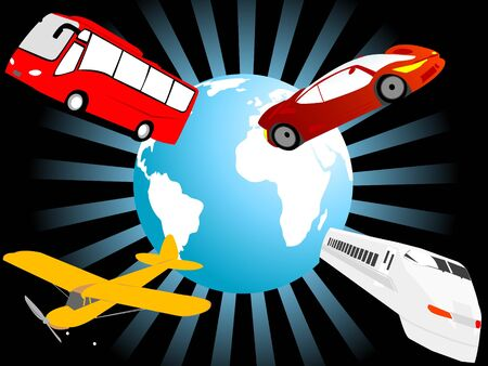 world tour with different vehicles   photo