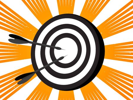 dart board on rays background   photo
