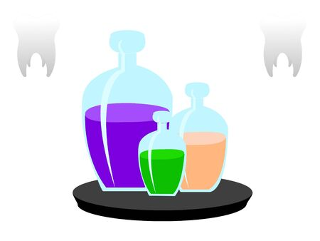 chemical containers on table Stock Photo - 3300005