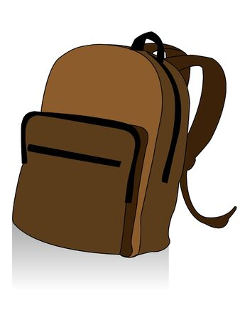school bag on isolated background     photo