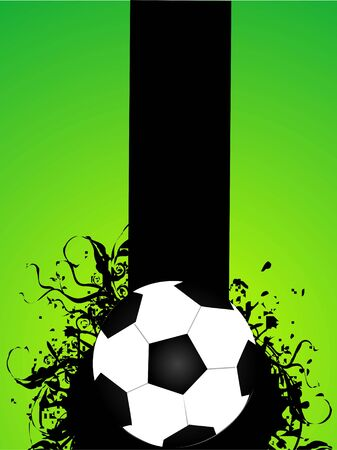 football on florals background   photo