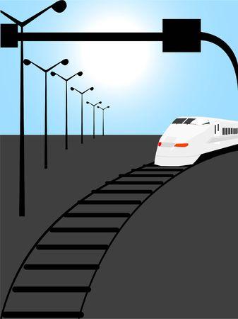 fast train  on track   photo