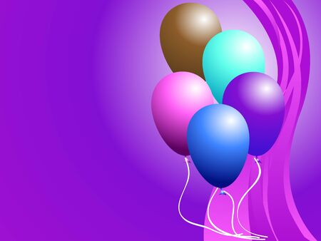 bunch of colorful balloons Stock Photo - 3300420