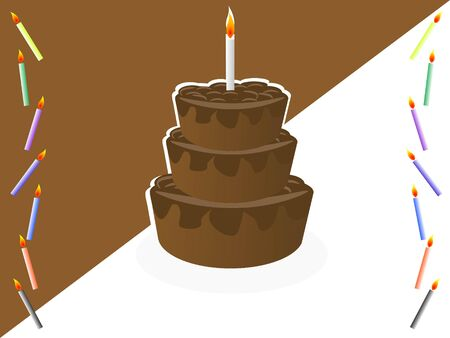 cake with candles Stock Photo - 3300413