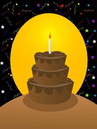 cake on circular gradient background   photo