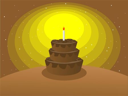 cake on circular gradient background   photo