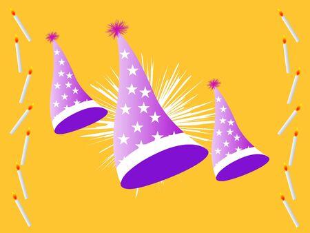 birthday cap with decorations   photo
