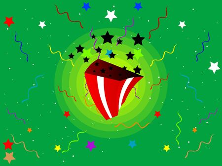 stary: gift pack on stary background