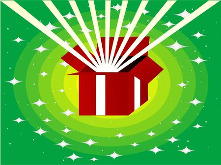 gift pack on stary background   photo