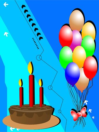 cake with balloons   photo