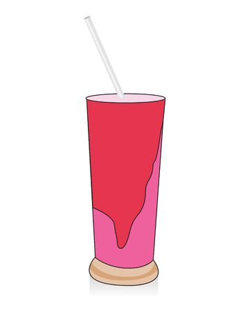 shake glass on isolated background     photo