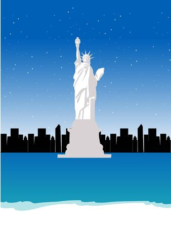 statue of liberty on abstract background Stock Photo - 3300595