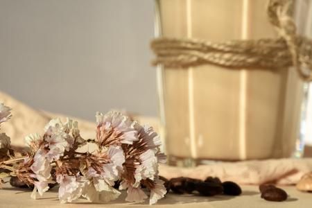 flores secas: dried flowers Foto de archivo